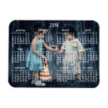 Personalized 2016 Magnetic Calendar 3x4 Rectangular Photo Magnet