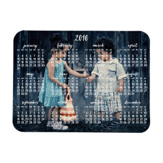 Personalized 2016 Magnetic Calendar 3x4 Rectangular Photo Magnet