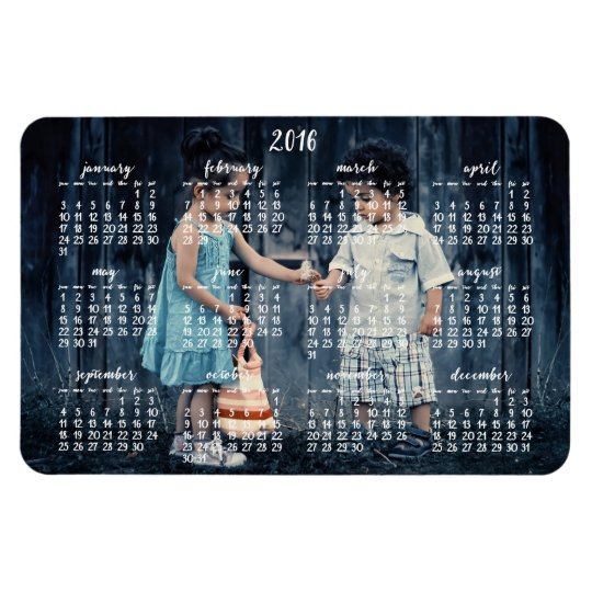 personalized 2016 magnetic calendar 4x6 magnet zazzle com