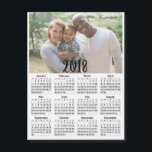 """Personalized 2018 Calendar Magnetic Photo Card<br><div class=""""desc"""">Personalized 2018 Calendar Magnetic Photo Card</div>"""