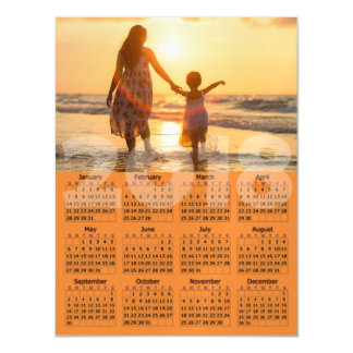 Personalized 2018 Calendar Magnetic Photo Card