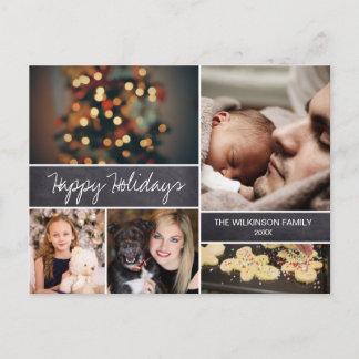 Personalized 2018 Happy Holidays Photo Christmas Holiday Postcard