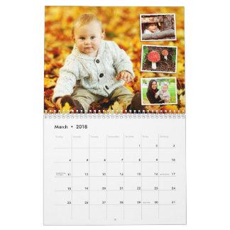 Personalized 2018 photo calendar custom holiday