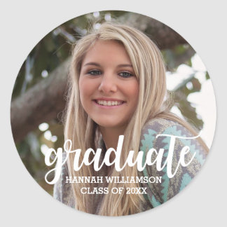 Personalized 2018 Photo Graduation Sticker