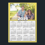 "Personalized 2019 Family Photo Magnet Calendars<br><div class=""desc"">Personalized 2019 Family Photo Magnet Calendars. Yellow but you can change the color to whichever color you&#39;d like.</div>"