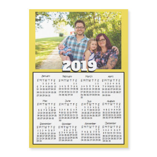 Personalized 2019 Family Photo Magnet Calendars