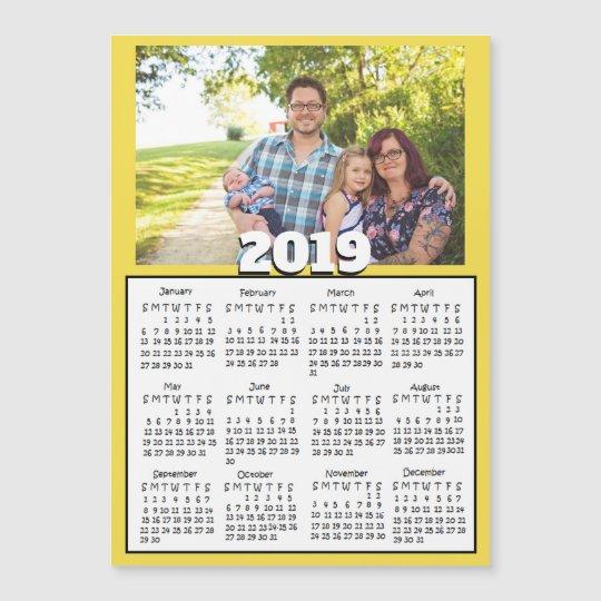 Personalized 2019 Calendar Personalized 2019 Family Photo MagCalendars | Zazzle.com