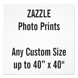 "Personalized 20"" x 20"" Photo Print, or custom size"