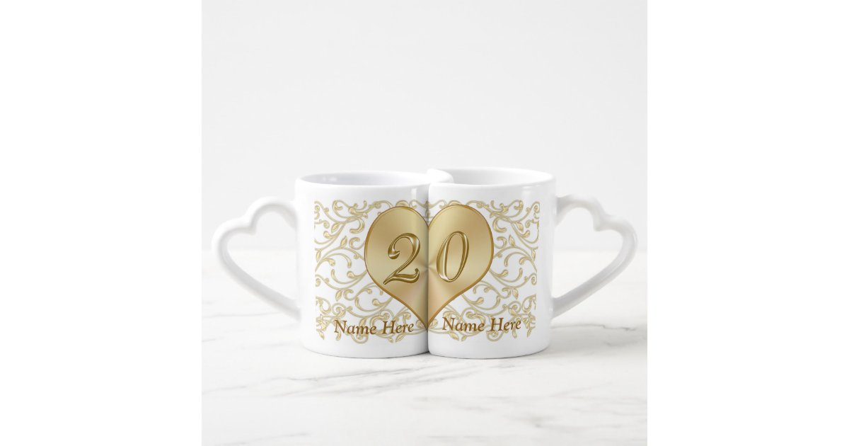 Personalized 20 Year Wedding Anniversary Gift Mugs Zazzle