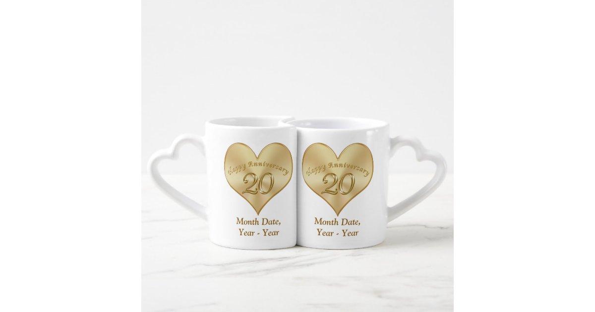 20 Yr Wedding Anniversary Gift: Personalized 20 Year Wedding Anniversary Gift Mugs