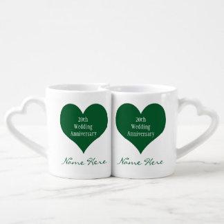 Personalized 20th Anniversary Gift Ideas Heart Mug