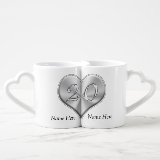 personalized 20th anniversary gifts lovers mugs zazzle com