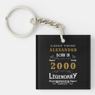 Born To Shop Silver-Colored Keychain