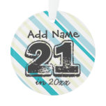 Personalized 21st Birthday Ornament