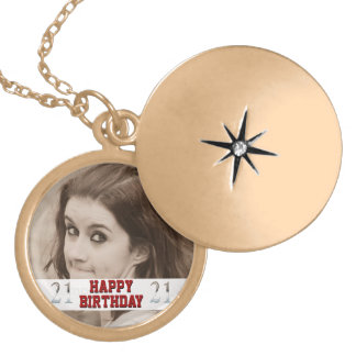Personalized 21st Birthday Silver Number 21 Pendant