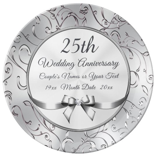 personalized 25 year anniversary gift plate zazzle com