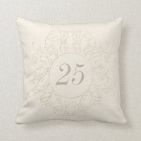 """Personalized 25th Anniversary Gifts or """"ANY YEAR"""" Throw Pillow"""