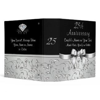 Personalized 25th Anniversary Photo Album 3 Ring Binder