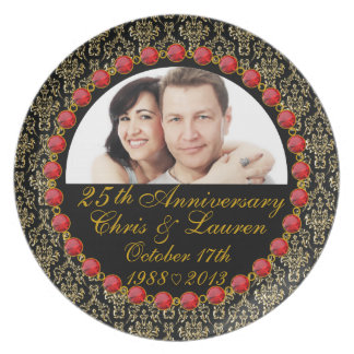 PERSONALIZED 25th Anniversary Photo Display Plate