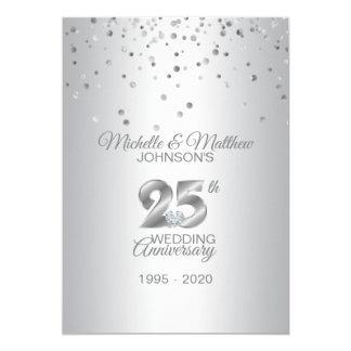 Personalized 25th Silver Wedding Anniversary Invitation