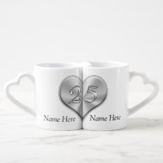 Personalized 25th Wedding Anniversary Gifts Coffee Mug Set at Zazzle
