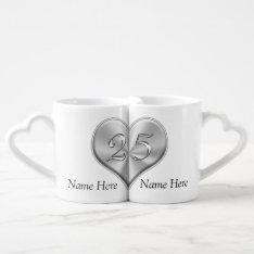 Personalized 25th Wedding Anniversary Gifts Coffee Mug Set at Zazzle