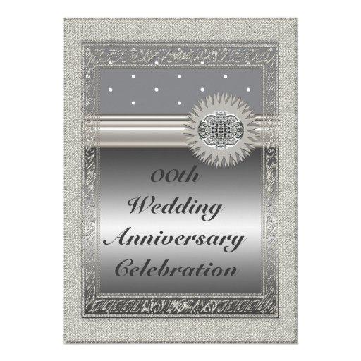 Personalized 25th Wedding Anniversary Party Invita Personalized Invitation
