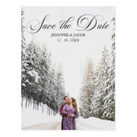 Personalized 2 Photo (1 1) Wedding Save the Date Postcard