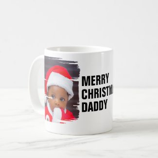 Personalized 2 Photo Merry Christmas Coffee Mug