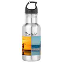 Personalized 2 Photo Water Bottle