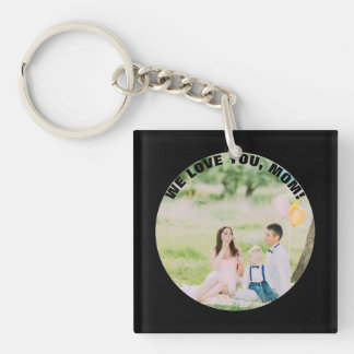 Personalized 2 Photos | For Mom on Mother's Day Keychain