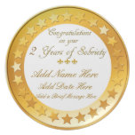 Personalized 2 Year Sobriety Display Plate
