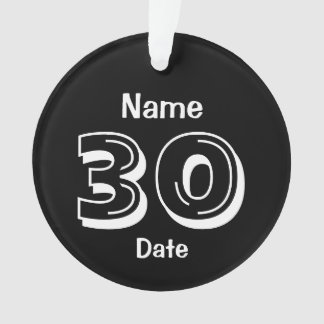 Personalized 30th Birthday Gag Gift Ornament