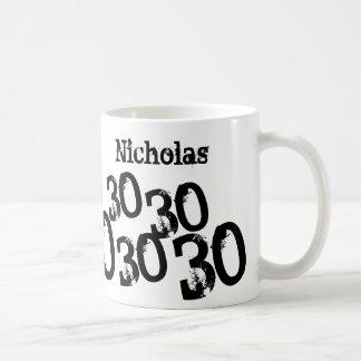 Personalized 30th Birthday Basic White Mug