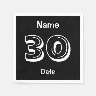 Personalized 30th Birthday Paper Napkin