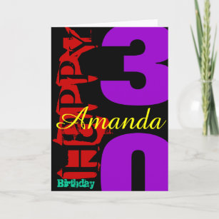 30 birthday greetings gifts on zazzle personalized 30th birthday pop greeting card m4hsunfo