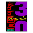 Personalized 30th Birthday POP Greeting Card