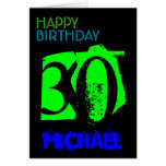 Personalized 30th Birthday POP Greting Card