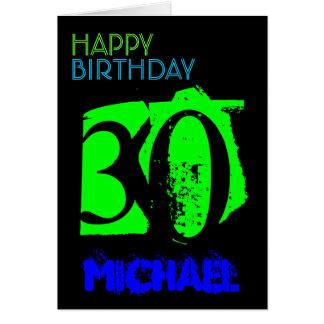 Personalized 30th Birthday POP Greting Card