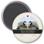 Personalized 30th Wedding Anniversary, Geese Fridge Magnets