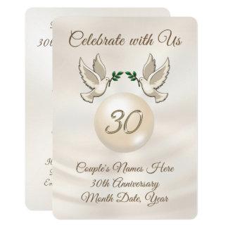 Personalized 30th Wedding Anniversary Invitations