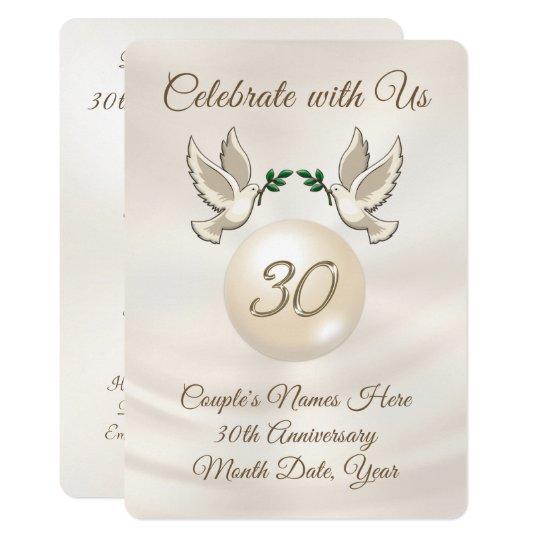 30th Wedding Anniversary Invitations: Personalized 30th Wedding Anniversary Invitations