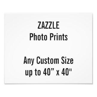 Personalized 350x280mm Photo Print, or custom size