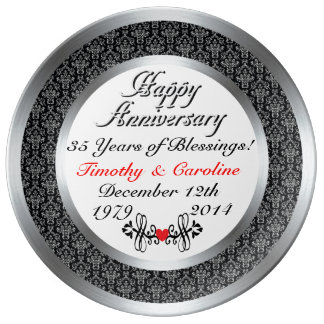 Personalized 35th Anniversary Porcelain Plate