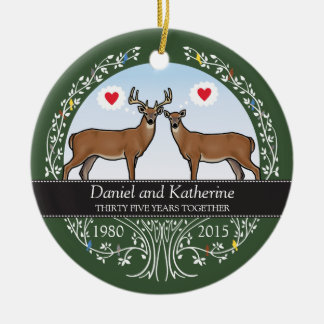 35th Wedding Anniversary Ornaments  Keepsake Ornaments  Zazzle