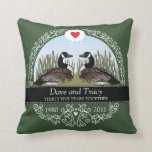 Personalized 35th Wedding Anniversary, Geese Pillows