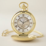 Personalized 37 Year Anniversary Gift for Him Pocket Watch