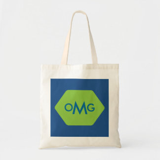 Personalized 3 letter monogram blue green bag