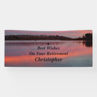 Personalized 3 Lines of Text Fisherman Retirement Banner