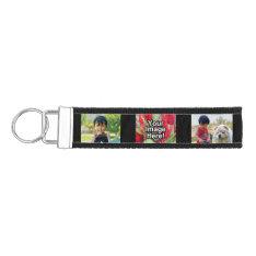 Personalized 3 Photo Keychain Wristband Band at Zazzle